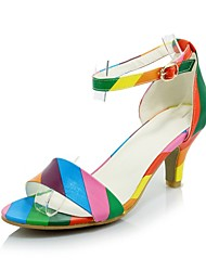 Women's Shoes Stiletto Heel/Open Toe Sandals Party & Evening/Dress Black/White/Multi-color