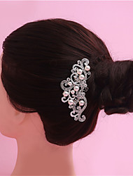 Highlighting The Bride Pearl Headdress Combs Comb Alloy Crown Bride Wedding Jewelry