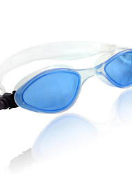 WAVE Swimming Goggles Women's / Men's / Unisex Anti-Fog / Adjustable Size Silica Gel PC Transparent Black / Blue