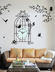 Modern Creative Fashion Metal Birdcage Mute Wall Clock
