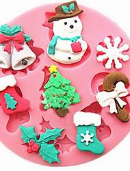 Snowman Snowflake Christmas Fondant Cake Mold Silicone Mold