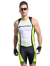 Nuckily Tri Suit Men's Short Sleeves Bike Vest/Gilet Triathlon/Tri Suit Jersey Anatomic Design Ultraviolet Resistant Moisture