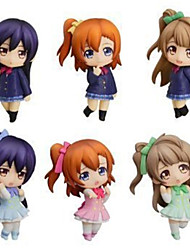 Love Live Niko Yazawa Anime Action Figures Model Toys Doll Toy 6pcs 8cm