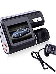 caixa preta i1000 hd 720p dupla câmera de lente carro DVR traço cam com câmera de visão traseira