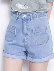 Pantalon Aux femmes Jeans / Shorts Décontracté / Mignon Coton Non Elastique