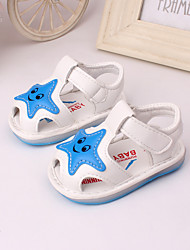 Boy's / Girl's Sandals Spring / Summer Open Toe Leather Outdoor / Dress / Casual Yellow / Pink / Ivory / White