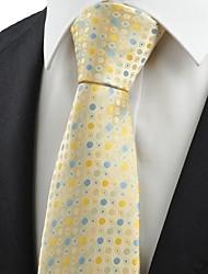 Галстук(Синий / Желтый,Полиэстер)В горошек