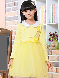 Girl's Spring Long Sleeve Mesh Dresses(More Color)