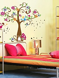 The New Happy Tree Wall Stickers Children Room Bathroom Decoration Waterproof Stickers Can Be Removed