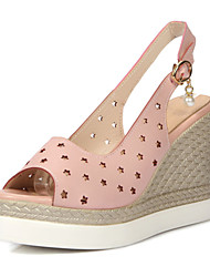 Women's Shoes Wedges Heels /Sling back/Open Toe Sandals Dress/Casual Blue/Pink/White