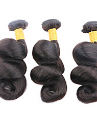 """дешевые 1шт цена / серия 50g 8 """"-26"""" бразильские виргинские распущенные волосы волны утками натуральный черный 1b # человеческих волос пучки"""