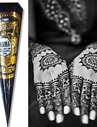 BLACK COLOR SHAMA HENNA HERBAL CONES Temporary Tattoo Kit Body Art Mehandi Ink