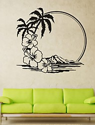 Romantik / Mode / Landschaft / Abstrakt Wand-Sticker Flugzeug-Wand Sticker,PVC M:42*45cm/ L:55*59cm