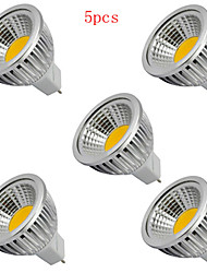 5pcs HRY® 5W MR16 400LM Warm/Cool White Light LED COB Spot Lights(12V)