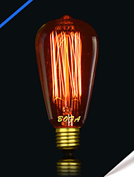 ST64 13 AK 40W Incandescent Light Bulbs Silk Antique Edison Light Bulb