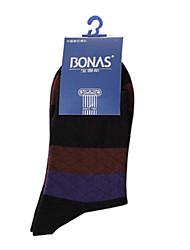 2016 High Quality Man Cotton Soild Casual Socks Brand BONAS Spring Summer Sock Business Male Brand Sock 6pcs/Box