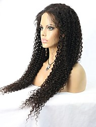 Factory Price Long Length Kinky Curly Indian Remy Human Hair Lace Front Wig/Full Lace wig