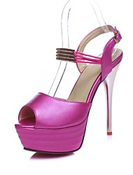 Women's Shoes Stiletto Heels Peep Toe/Platform/Open Toe Sandals/Party & Evening/Dress Blue/Pink/White /