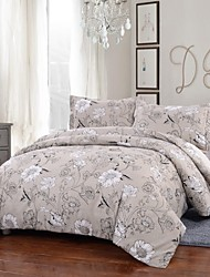 Simple Opulence Duvet Cover Set Polyester luxury Printed Beige Include Quilt Cover Pillow Cases Queen King