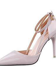 Women's Shoes Leatherette Stiletto Heel Heels Heels Casual Black / Red / White / Silver / Gray / Orange