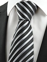 KissTies Men's Striped Microfiber Tie Necktie For Wedding Party Holiday With Gift Box(2 Colors Avaliable)