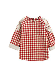 Girl's Blouse,Cotton Winter Red