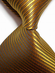 New Striped Bronzer JACQUARD WOVEN Men's Tie Necktie TIE2050