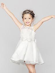 Girl's White Dress,Print Cotton Summer / Spring