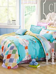Good qulity 100% Cotton Bedclothes 4pcs Bedding Set Queen Size Duvet Cover Set