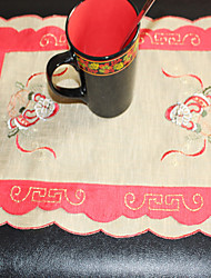 Christmas With Santa Claus pattern Embroidery Multi-Purpose  Table Cloths With   Size 28X43cm(11X17 inch)