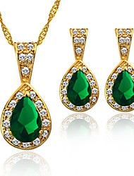 Fashion Wedding Jewelry Sets 18K Gold Plated Austrian Crystal Women Accessories