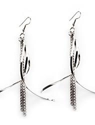 European Style Gold/Silver Tassel Earrings Jewelry for Women