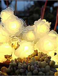 30Head 3D Rose Flower LED Light for Wedding Happy Newyear Decoration(Length:3.2m)