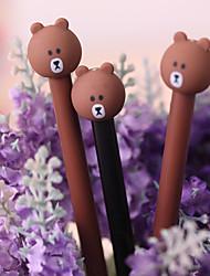 10PCS Japan And South Korea Cartoon Cute Bear Neutral Easily Dry Felt-Tip Pens