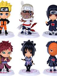 Naruto Action Figures Uzumaki Naruto Gaara Pein Killer Uchiha Obito Hoshigaki Kisame PVC Figures Toys 6pcs/set