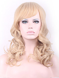 Europe and the United States Light Blonde Curly Hair Synthetic Wig Top Quality Hair Wig.