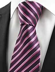 Luxury Striped Purple JACQUARD Mens Tie Necktie Wedding Party Holiday Gift #0004