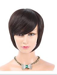 "8""Human Hair Hand Top Made Wig Bob Wigs Brazilian Hair Short Human Hair Wigs"
