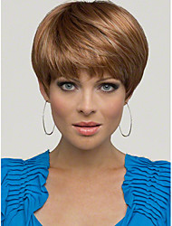 New Women Nice short Natural Straight wig synthetic hair wigs Free Shipping
