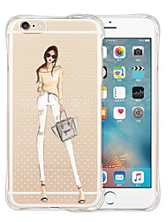 Pour Coque iPhone 5 Transparente Coque Coque Arrière Coque Femme Sexy Flexible Silicone iPhone SE/5s/5