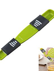 pratique et facile à utiliser réglable cuillère de mesure précise multicolore vert