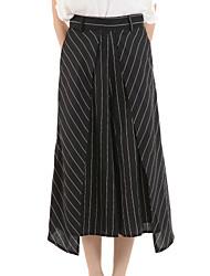 Pantalon Aux femmes Droit Street Chic Polyester Non Elastique
