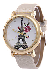 Women's  Fashion Personality Tower Rhinestone Quartz  Leather Lady Watch Cool Watches Unique Watches