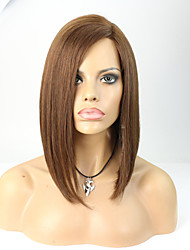 Joywigs 12inch Bob Hairstyle Human Hair Wigs for Women Brown Color
