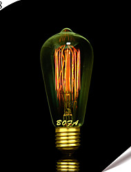 BOFA ST58 E27 40W Edison Art Deco Tungsten Light Source (85V-265V)