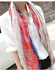 National Retro Bohemian Long Scarf Cashew Flowers Scarves