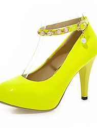 Women's Shoes Leatherette Stiletto Heel Heels Heels Wedding / Office & Career / Dress / CasualBlack / Yellow / Green /