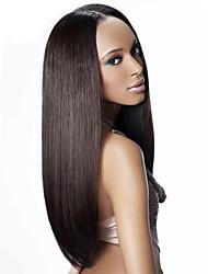 """8 """"-26"""" brasileño peluca recta virginal del pelo peluca llena del cordón&encaje multicolor peluca delantera opcional con el pelo del"""
