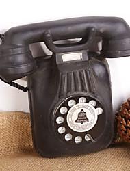Hauptverzierungen 1940er Jahrgang westlichen schwarzen Dreh Hörer Schreibtisch Telefonmodell