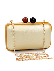 L.WEST® Women's Handmade Retro Cute Little Ball Wooden Party/Evening Bag